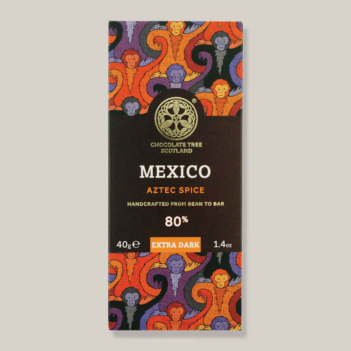 Chocolate Tree Mexico aztec spice 80% extra dark 40g reep