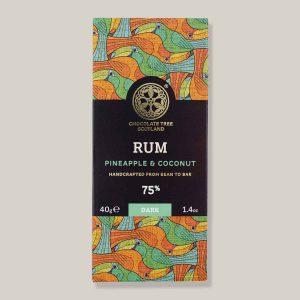 Chocolate Tree Rum 75% melk 40g reep