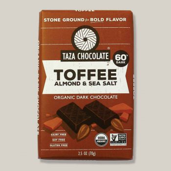 Taza toffee almond and sea salt 60% dark 70gr