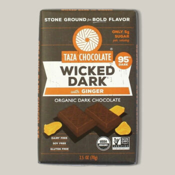 Taza wicked dark with ginger 95% unroasted dark 70gr