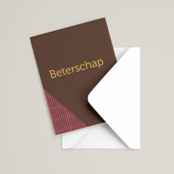 Beterschapskaart met envelop