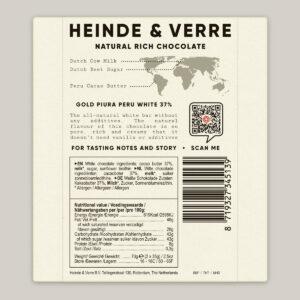 Heinde & Verre 37% Gold Piura Peru White